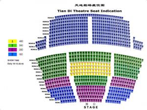 天地劇場・座席配置図