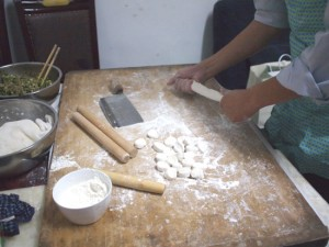 水餃子作り